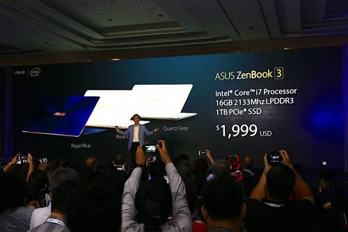 ASUS ZenBook 3 2016 Computex發表 規格 效能 品味三者合一