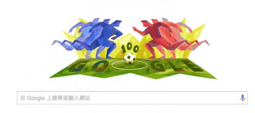 [Google Doodle] 2016年百年紀念美洲盃足球賽 3日起開踢