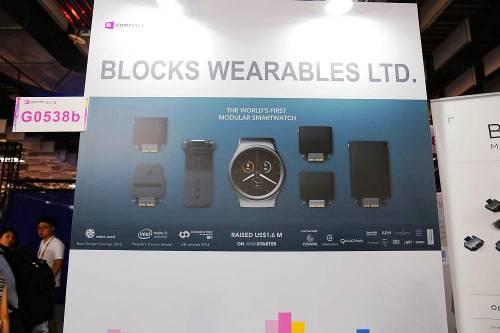 kickstarter 轟動的集資產品 BLOCKS 模組智慧手錶實機於 Computex 展示