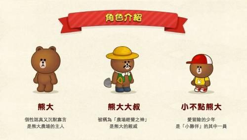 滿農場的熊大 LINE首款農場經營手遊