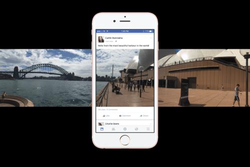 Facebook全面開放360照片分享 手機內建全景模式也能用