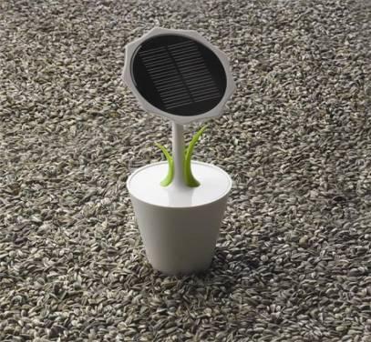 太陽能產業需要創意產品來滋潤一下 Solar Sunflower