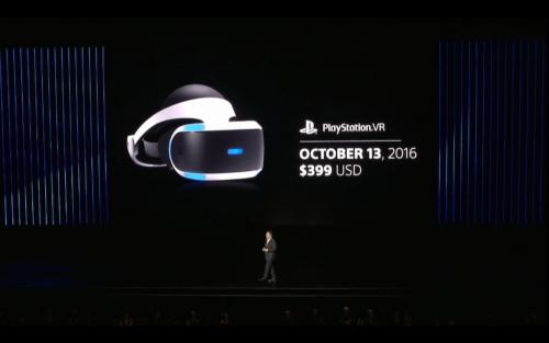 Sony在E3 2016中發表PS VR 預計十月正式上市