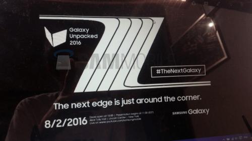 三星Galaxy Note 7發表會邀請函流出 8月2日正式發表