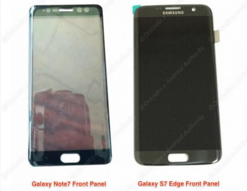 Galaxy Note 7面板曝光 證實將導入Iris虹膜辨識