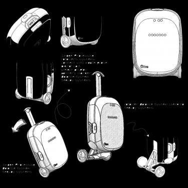 Olive 機器人行李箱 免拖拉 你走到哪它就跟到哪!比空姐更優雅