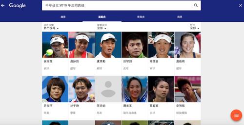 2016 奧林匹克即將開幕 與Google一同關注里約奧運國家隊與選手參賽賽事