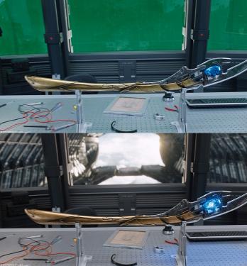 復仇者聯盟的透明顯示器