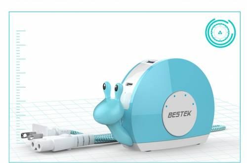 辦公桌上的寶貝 bestek 百事泰小蝸牛多口充電器
