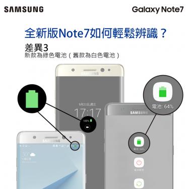Samsung Note7換機行動 軟體更新今天同步展開