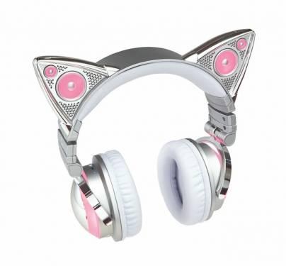 耍萌無極限 迷人科幻無線貓耳耳機亮相