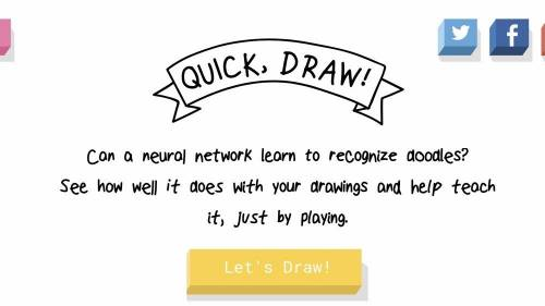 Quick Draw 讓Google機器人來猜猜看你畫什麼