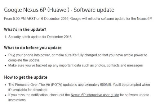 Nexus 6P與其他Nexus裝置 最快12月5日可升級 Android 7.1.1