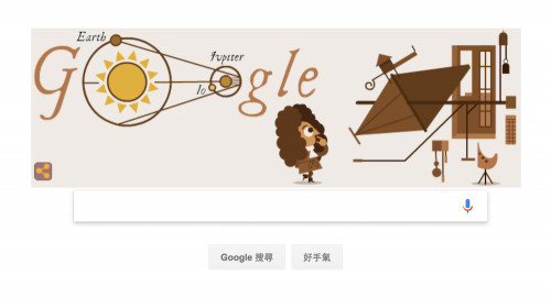 [Google Doodle] Ole Romer 奧勒·羅默 光速測定 340 週年紀念日