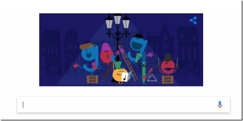 聖誕節快樂 Google 塗鴉與你一同歡慶