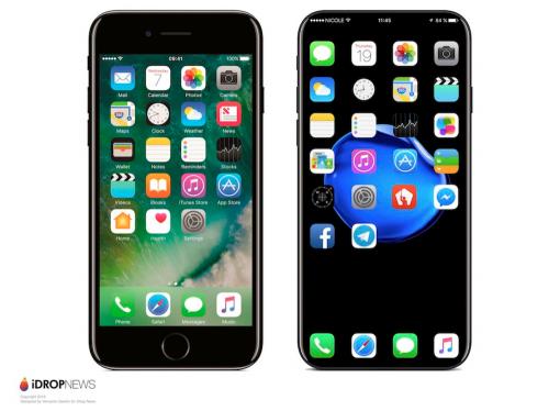 iPhone 8外型曝光 OLED與2.5D螢幕的應用 創造出無邊框的視覺效果