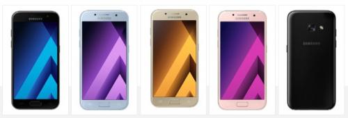 發表確認 Samsung Galaxy A3 2017 A5 2017 和 A7 2017 三款