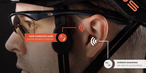 在聆聽音樂的過程中安全騎車 Coros Linx智慧骨傳導安全帽