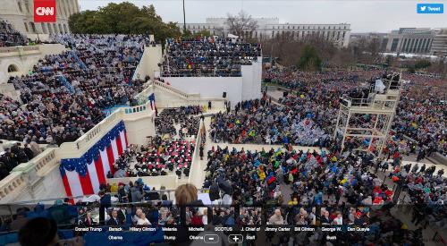 CNN用10億像素照片 記錄川普就職演說歷史性一刻