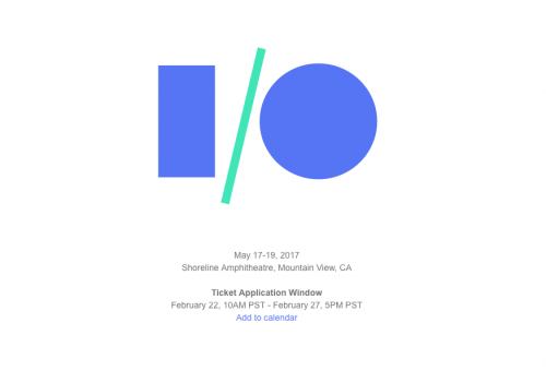 Google I O 2017 確定! 2月23日起開放報名