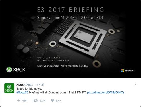 E3 2017微軟發表會確認 天蠍計畫即將亮相