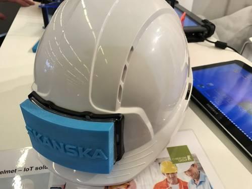 遠端監控工人的狀況 Cybercom Group智慧安全帽