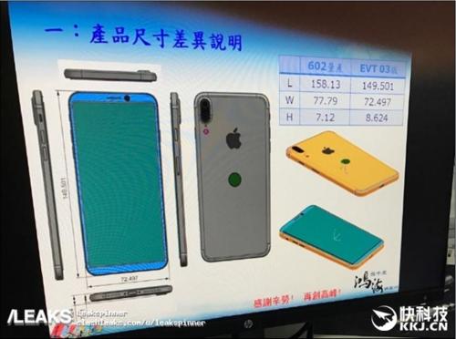 iPhone8外型設計圖流出 雙鏡頭相機模組將為直列式?