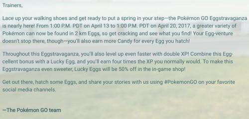 Pokemon GO精靈寶可夢GO復活節活動開跑 孵出少見寶可夢與提高經驗值趁現在