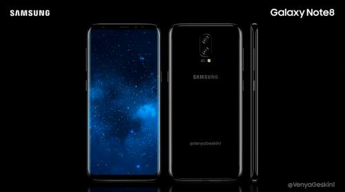 Galaxy Note 8外觀模擬圖曝光 有機會搭載雙鏡頭相機與6.4吋超大螢幕