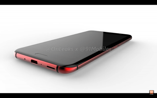 HTC U渲染圖曝光 紅色玻璃機身非常吸睛