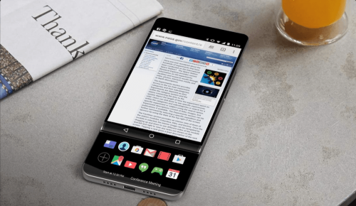 LG V30外型曝光 傳將有滑蓋式雙螢幕設計