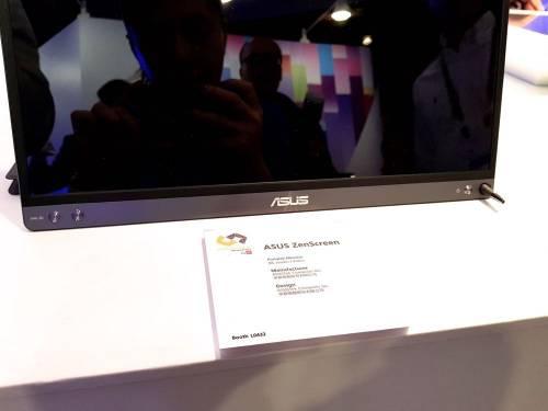 華碩最輕薄外接螢幕 ZenScreen COMPUTEX現身