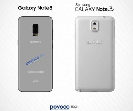 三星Galaxy Note 8 渲染圖再次流出