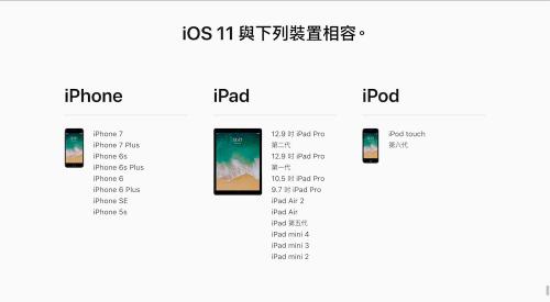 iOS 11 相容裝置名單出爐 32位元處理器產品更新止步