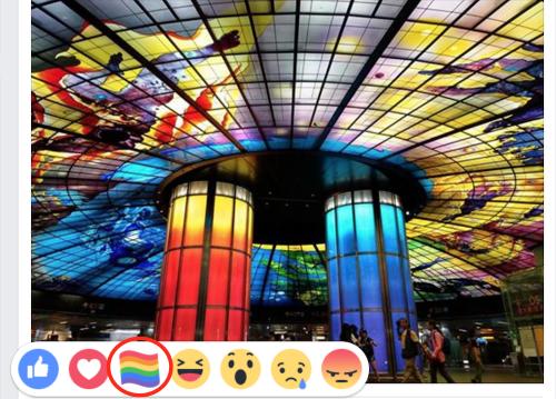 慶祝同性戀自豪日 Facebook 推出彩虹旗表情符號