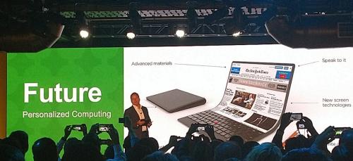 螢幕竟然可以彎曲 Lenovo 展出可繞式OLED概念筆電