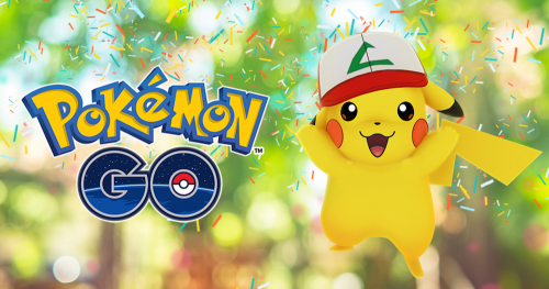 Pokemon GO 滿一歲 限定版「綠ㄥ帽」皮卡丘來囉