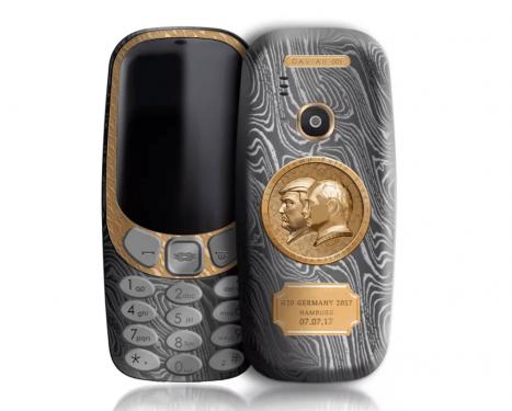 鈦合金打造 川普x普丁特別版 Nokia 3310 俄羅斯亮相