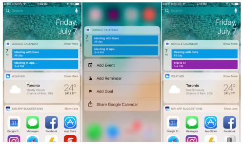 iOS 版Google日曆更新 可在Widget上顯示2筆行程