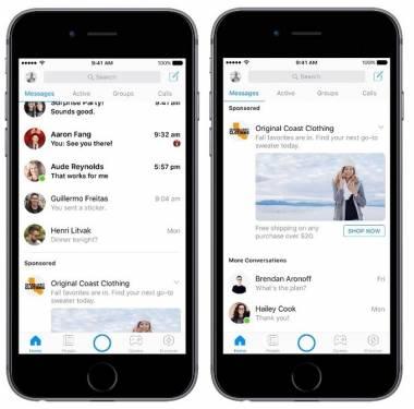 Facebook Messenger 月底起開始加入廣告服務