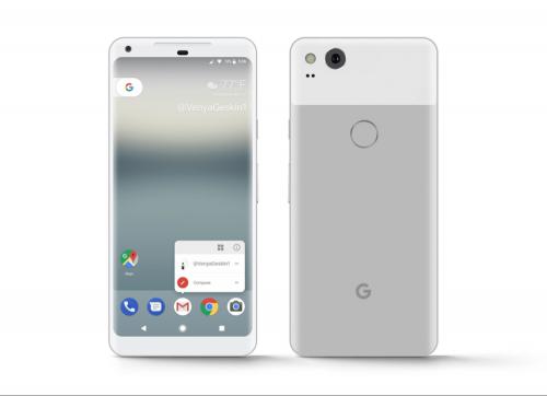 好美!Google Pixel 2 XL 外型曝光