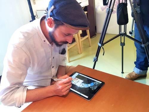 法國SkyArt藝術家Thomas Lamadieu 用 Tab S3 暈染台灣天空