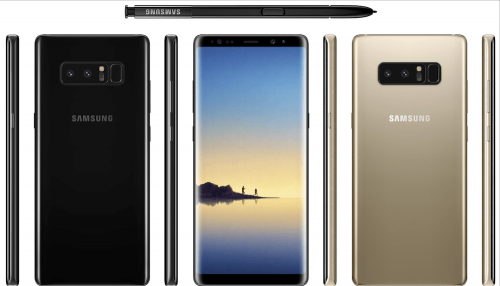 Galaxy Note 8 實機圖片與部份硬體規格曝光