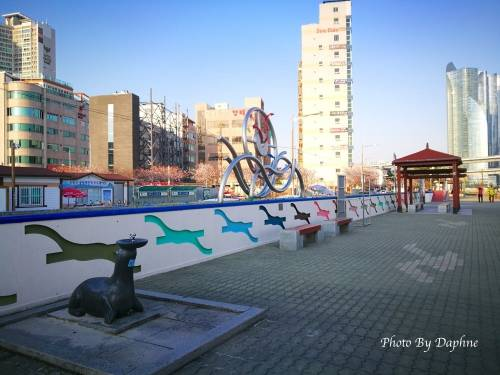 釜山 民樂水邊公園 跟在地人一起看海 野餐 喝燒酒