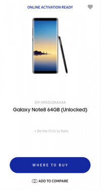 Note 8 意外現身美國官網 外型與傳聞一致
