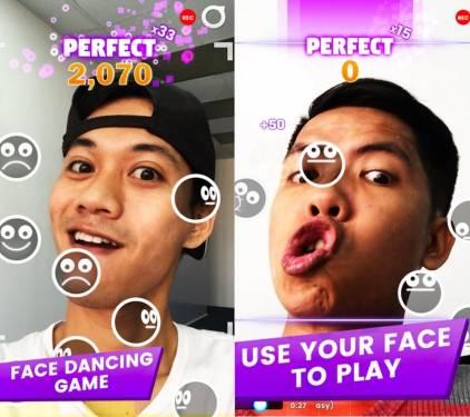 FaceDance Challenge 臉部表情音樂遊戲 考驗恥力無極限