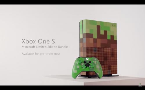 Xbox One S Minecraft特製版 現身Gamescom 2017