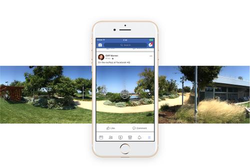 Facebook 將提供360度照片拍攝功能