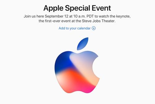Apple 發表會邀請函出爐 將在9 12發表iPhone 8