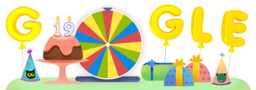 19 歲了! Google 生日幸運轉盤 中的 19 項驚喜!